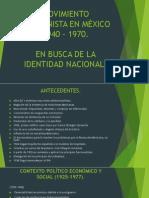 MOVIMIENTO MODERNISTA EN MÉXICO 1940 – 1970