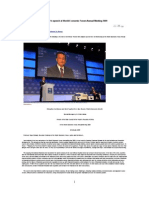 Full Text of Chinese Premier's Speech at World Economic Forum