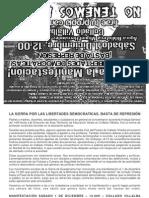 PANFLETO MANI 1-12-2012 Villalba Por las libertades democraticas