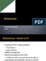 Ketamine PACU Presentation