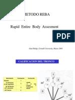 Metodo REBA 2010