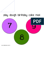 Birthday Cake Mat 7-9