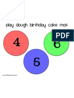 Birthday Cake Mat 4-6