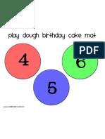 Birthday Cake Mat 4-6