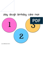 Birthday Cake Mat 1-3