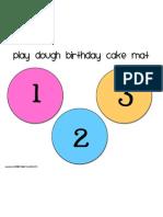 Birthday Cake Mat 1-3