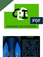 FILOSOFÍA INSTITUCIONAL