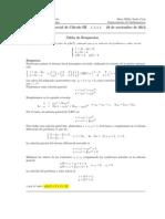 Corrección, Segundo Parcial Cálculo III, 29 de noviembre de 2012