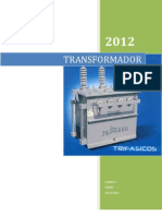 practica de la construcción de un transformador eléctrico AC