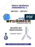 Quimica Organica - Apostila Orgânica Experimental UFSC 2003 PDF