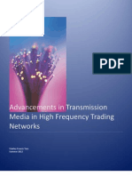 Advancements in Transmission Media in HFT Networks v.p