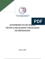 Propuesta o Anteproyecto de Norma Técnica de Delegados de Prevención