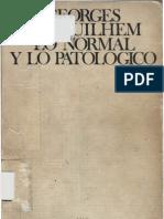 Canguilhem, Georges - Lo Normal y Lo Patologico