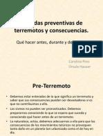 Medidas Preventivas de Terremotos y Consecuencias