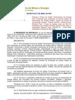Decreto de 3-4-2007d