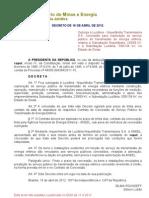 Decreto de 16-4-2012 - Luziânia - Niquelândia