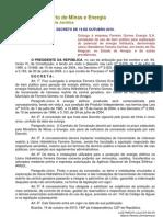Decreto de 19-10-2010