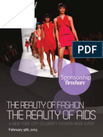 The Reality of FASHION The Reality of AIDS New York City Fashion Week Feb 2013 Sponsorship Deck