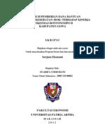 PENGARUH PEMBERIAN DANA BANTUAN OPERASIONAL KESEHATAN (BOK) TERHADAP KINERJA PUSKESMAS BONTONOMPO II KABUPATEN GOWA