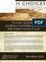 Tough Choices - Florida Counties Bridge the Ethics Policy Gap