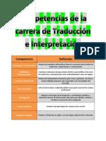 Competencias de La Carrera de Traduccion e Interpretacion