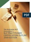 Australian NLP Association Practitioner Level Certification Outline 2009