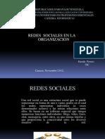 IUPG-REDES SOCIALES EN LA ORGANIZACION