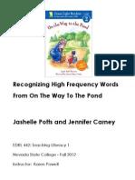 Literacy Center Lesson Plan