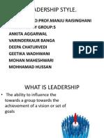 Leadership Style 2003