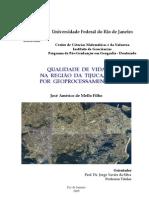 Qualidade de vida na região da Tijuca, RJ, por geoprocessamento