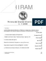 (eBook - Massoneria - ITA) - GOI - Hiram - Rivista Del Grande Oriente d'Italia - 2006 Vol. 1