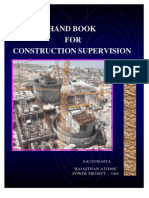 Civil Engineers Hand Book for Construction Supervision