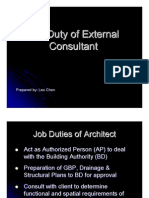 Job Duty of External Consultant