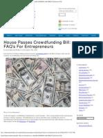 Crowdfunding Bill_ FAQ's for Entrepreneurs _ WALKER CORPORATE L