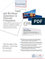 Auditing Fraud and Revenue Assurance in Telecom Companies Sep12