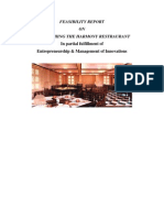 FEASIBILITY REPORT of Starting Harmony Restaurant