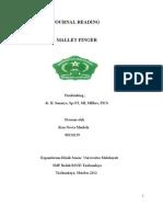 Journal Reading Mallet Finger - Rien Novia 08310259