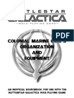 Colonial Marine Corps Organization and Equipment