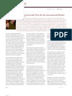 Preparing Curricula Vitae for the International Market