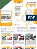 CAMON-Madrid. Programación. Diciembre 2012. Obra Social. Caja Mediterráneo