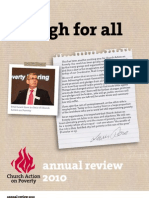 Church Action on Poverty 2010 annual review