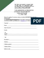 Iscrizione 2012-2013 Laboratori Sociali