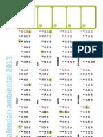 Calendari ambiental 2013