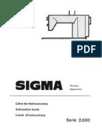Libro de instrucciones SIGMA supermatic 2000