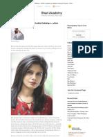 Featuring the work of Saritha Dattatreya – article compiled and edited by Harika M Chanana - Shari Academy Blog