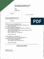 AstraZeneca UK Limited v. Watson Laboratories, Inc., C.A. No. 10-915-LPS (D. Del. Nov. 14, 2012)
