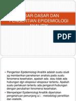 Dasar-dasar Dan Pengertian Epidemiologi Analitik