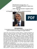 Mario Magnani, introduzione Legge provinciale trentina 15 del 24 luglio 2012, sulla tutela delle persone non autosufficienti.