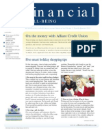 Financial Well-Being, Fourth Quarter 2012 Newsletter