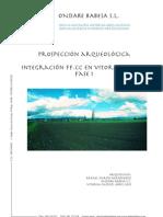 Prospección Arqueológica. Integración FF.CC. en Vitoria-Gasteiz. Fase i